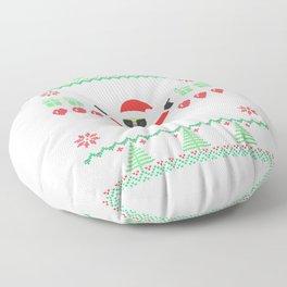 HoHoHo Madafakas Santa Claus Sweater gift Floor Pillow