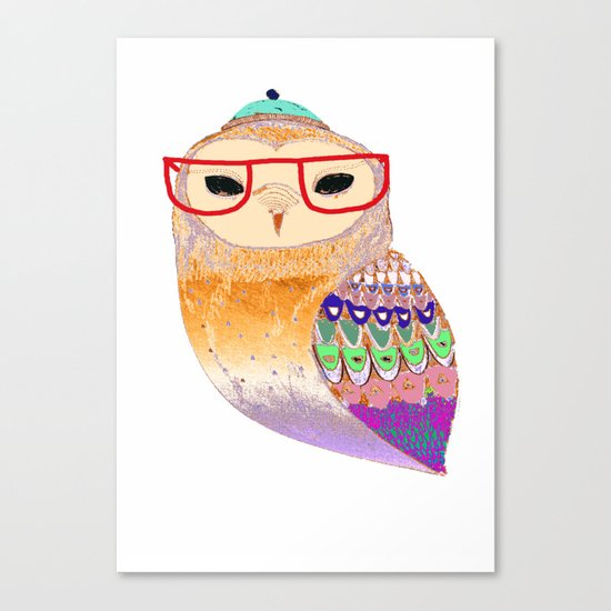 Pretty Awesome owl Canvas Print