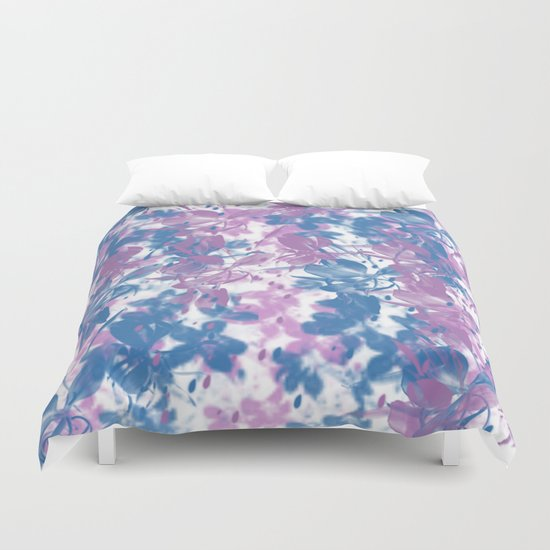 Elegant Painterly Floral Abstract Duvet Cover