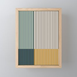 Color Block Line Abstract VIII Framed Mini Art Print