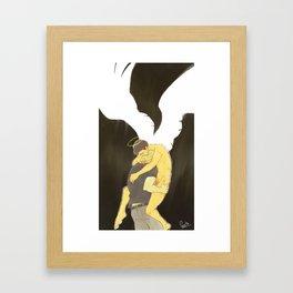 falling angel Framed Art Print