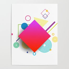 Displaced Geometry Poster