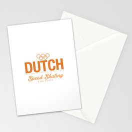Dutch - Speed Skating Stationery Cards