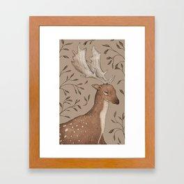 The Fallow Deer and Oats Framed Art Print