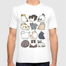 Cats Cats Cats SMALL White Mens Fitted Tee