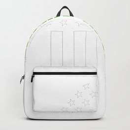 Memphis Irish prints by Howdy Swag graphic Backpack