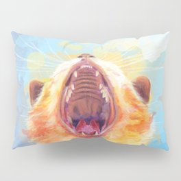 Rise and Shine, Kitty - colorful cat illustration Pillow Sham