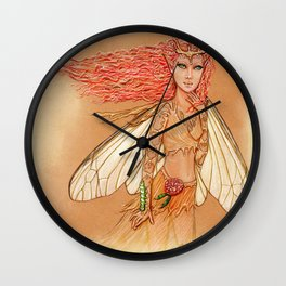 Silkworm Couture Wall Clock
