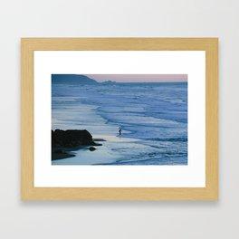 Ocean Beach Coastline Framed Art Print