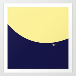COLOUR COUPLES CANARY YELLOW AND BLUE Art Print