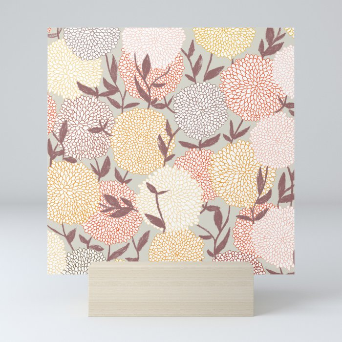 Pastel flowers Mini Art Print
