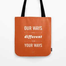 Us and Them: Chief Seattle Tote Bag