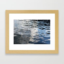 The Sky Is In The Lake Framed Art Print