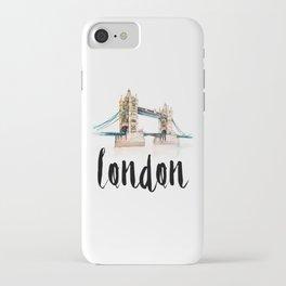 London watercolor iPhone Case