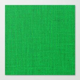 Natural Woven Neon Green Burlap Canvas Print