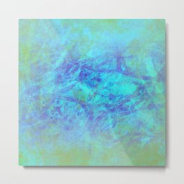Microcosmos of Chaos (Blue Version) Metal Print