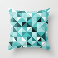 teal Throw Pillows featuring teal  by Hannah