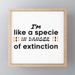 Im in danger of extinction Framed Mini Art Print