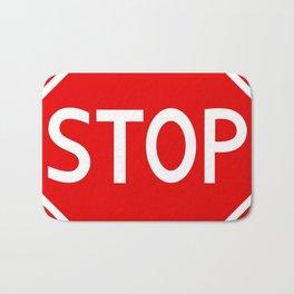Red stop sign Bath Mat
