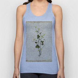 leaves. floral picture for home decor. Abstract Art. Wall art decorative 5 Unisex Tank Top