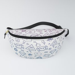 Cute & Sweet Monsters / Funny Clouds and Diamonds Fanny Pack
