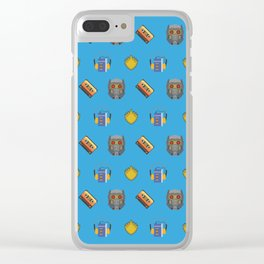 Awesome Mix Vol 1- Yondu Blue Clear iPhone Case