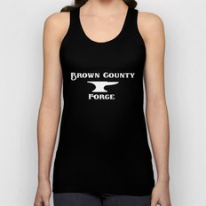 Brown County Forge Simple Logo Unisex Tank Top
