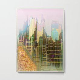 Back to the Fantastic City Metal Print