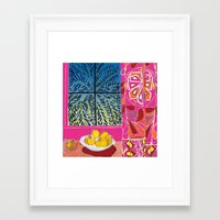 matisse Framed Art Prints featuring Matisse version by bbay