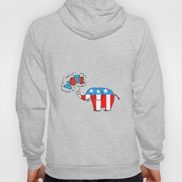 American Elephant Vote Drawing Hoody