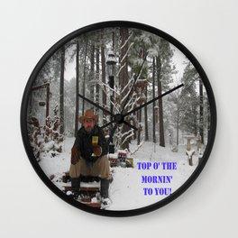 Top o' the Mornin' to you Wall Clock