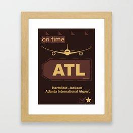 ATL Atlanta airport chocolate Framed Art Print