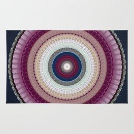 Decorative Wine Dark Blue Mandala Rug