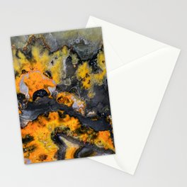 Earth treasures - patters of yellow and orange jaspis Stationery Cards