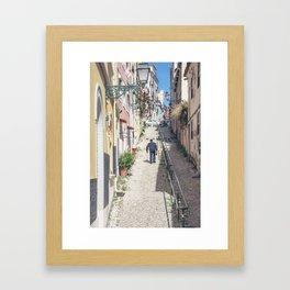 Hilly Lisbon Framed Art Print