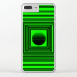 Abstract Green 101 Clear iPhone Case