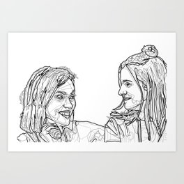 Rose and Rosie Art Print