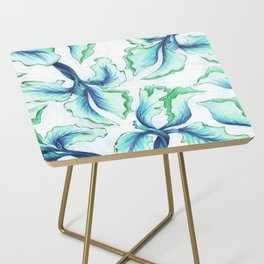 Blue Iris Side Table