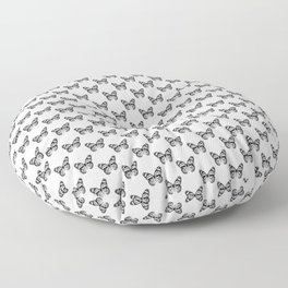 Monarch Butterfly Pattern   Vintage Butterfly Pattern   Black and White   Floor Pillow
