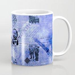 Paris News Blue Coffee Mug