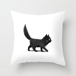 Creeping Cat Throw Pillow
