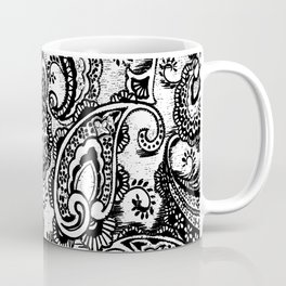 paisley batik black Coffee Mug