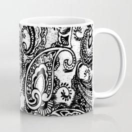 paisley batik black Coffee Mug
