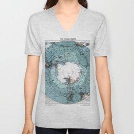 Antarctica Map Unisex V-Neck