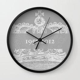 Jubilee Crown {soft grey} Wall Clock