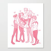 valentines Canvas Prints featuring Valentines by pygmy