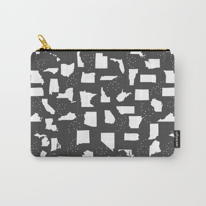 United States Black and White Carry-All Pouch