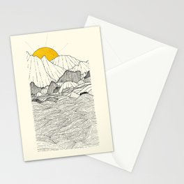 The land and the sea Stationery Cards