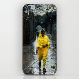Rainy Friday in Bhashantek Slum, Dhaka iPhone Skin