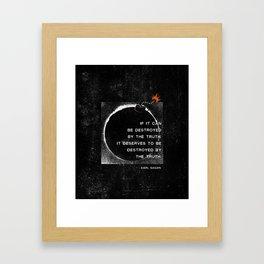 Carl Sagan Quote: Truthbomb Framed Art Print